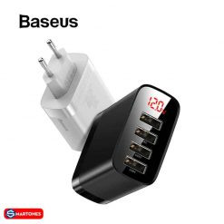 Baseus 4 Ports Usb Charger 30w Digital Display Phone Charger For Iphone 11 Xiaomi Redmi Note 05.jpg