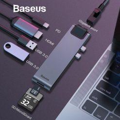 Usb Hub Baseus 7 In 1 Thunderbot 06