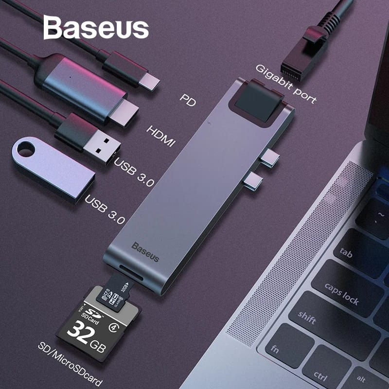 Usb Hub Baseus 7 In 1 Thunderbot 06
