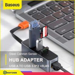Bộ Usb Hub Baseus Steel Cannon Usb A To Usb 3.0 * 3 Và Rj45 Cho Laptop, Bảo Hành 6 Tháng 60b8a8e6c7e65.jpeg